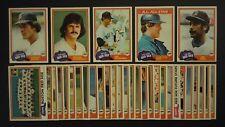 1981 Topps Boston Red Sox Team Set w/ Traded 33 Cards Carl Yastrzemski Fisk Rice