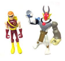 "DC Comics TEEN TITANS 3"" cartoon figures x 2 SPEEDY arrow & VILLAIN, Justice"