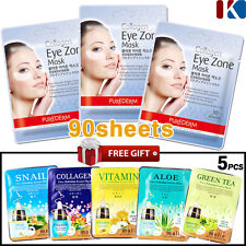 [3 Pack 90 Sheets] PUREDERM Collagen Hydro Mask Eye Zone White Wrinkle Care
