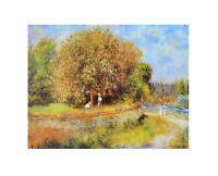 Pierre Auguste Renoir Blühender Kastanienbaum Poster Kunstdruck Bild 24x30cm