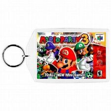 Nintendo 64 N64  MARIO PARTY 3 Box Cover Game Cartridge  Keychain New