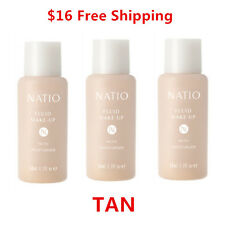 THREE NATIO Fluid Make Up Foundation with Moisturiser TAN  50ml, Made Australia