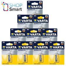 10 VARTA Superlife Zinc-Carbono Potencia 9V Batería E-Block 2022 6F22 Nuevo