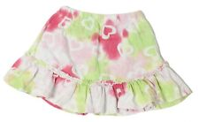 Flapdoodles Girls Size 5 Green Pink Heart Pattern Skirt