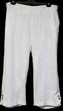 plus sz XXS / 12 VIRTU TS TAKING SHAPE Linelle Curved Crop Pants 100% linen NWT!