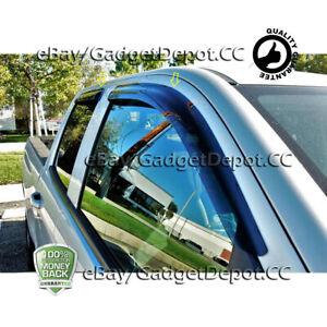 Fit 2014-2018 Chevrolet Silverado 1500+2500+3500 DOUBLE CAB Smoked Window Visors