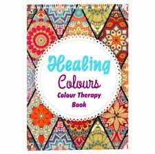 Adult Colouring  Calm Relaxing Healing Therapy Book 40 Intricate Patterns - Blue