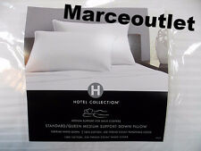 Hotel Collection Siberian White Goose Down KING Pillows Medium Support