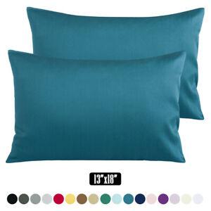 "2 Pack Toddler Pillowcase 100% Cotton Sateen Pillow Case Cover Size 13""x 18"""