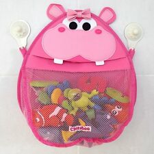 Henrietta Hippo Bath Toy Storage Organiser with suction cups that stay put!