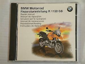 NEW GENUINE REPAIR MANUAL CD ROM FOR BMW R1150GS 1998 - 2003 MODELS