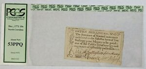Dec. 1771 North Carolina 10 Shillings #476 Colonial Currency Note PCGS 53PPQ