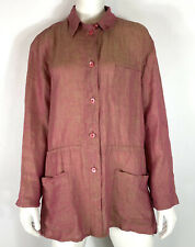 Escada Sport Womens Tunic Shirt Jacket Red Linen size M