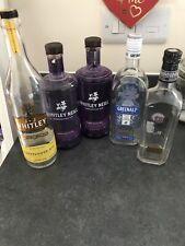 empty gin bottles