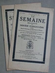 Diocèse d'Angoulème - Semaine religieuse Mai 1933 n°21&22 - Décès Mgr Arlet