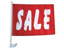 "12x18 Sale Red White Car Window Vehicle 12""x18"" Premium Quality Flag"