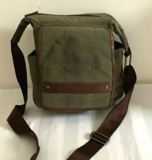 Ellington Khaki Green /Brown Leather Crossbody Bag Tote Travel Sports Hunting