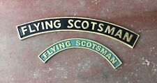 More details for flying scotsman engine cast iron train railway sign plaque name plate scotland