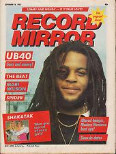 Astro of UB40 on Magazine Cover 18 September 1982 The Beat Joan Jett Mari Wilson