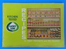 Vintage Lucky Leaf Recipes for Fruit Products and Pie Fillings 29 pgs