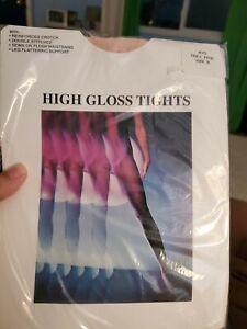 "HIGH GLOSS tights~nylon/spandex~sz B up to 135 lbs/5'3""-5'6""~theater pink"