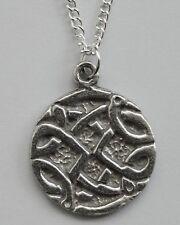 Chain Necklace #41 Pewter CELTIC CIRCLE (20mm x 17mm)