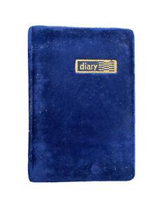 Notebook a5 - Blue Velvet - Line Paper Book