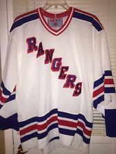 New York RANGERS CCM Hockey Jersey Men's Size Large Blank NHL 90s  Graves Auto