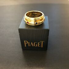 9293 Piaget 18ct Yellow Gold Possession Ring w Diamond Sapphire Ruby & Emerald