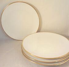 SCHUMANN BAVARIA White w/ Gold SALAD / DESSERT PLATES 4