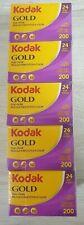 5x Kodak Gold 200 ISO 135mm 24 Exposure Colour Negative Film EAN 086806033954