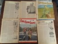 Rare Vtg 20 issues 1950-57 FUR FISH GAME Magazine Hardings Publication Cover Art