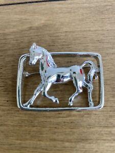 Vintage Silver Horse Brooch