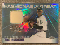 2004 Topps Chrome Refractor GU Jersey Patch #TH Tim Hudson NM-MT Game Used As