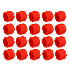 Car Truck Accessories  Wheel Tyre Hub Screw Bolt Nut 19mm Plastic Cap Red 20set