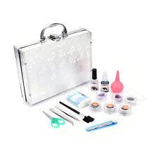Lash starter kit permanent individual eyelash extensions curl with silver box DS