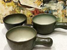 EDITH HEATH SEA & SAND 3 Bowls w Stick Handles Casserole? CERAMICS Pottery RARE