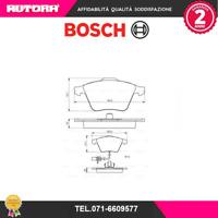 0986494283 Kit pastiglie freno a disco ant adatto a Audi (MARCA-BOSCH).