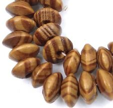 """10x5mm Natural Wood Abacus Rondelle Beads 16""""  2mm hole"""