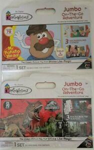 Jurassic World & Mr. Potato Head Colorforms Jumbo On-The-Go Sticker Set 2 Pack