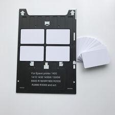 Blank Inkjet PVC ID Card 20X + 1X Card Tray For Epson14001430,R1800, R2000,R3000