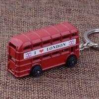 I Love London Red Bus Model Exquisite Souvenir Key Ring Key Chain Key Holder