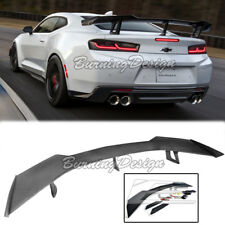 For 16-Up Camaro ZL1 1LE ABS Plastic Style Primered Spoiler Wing Rear Trunk Lid