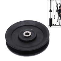 115mm Black Bearing Pulley Wheel Cable Gym Equipment Part Wearp TDO