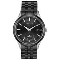 Citizen Eco-Drive Men's Date Calendar Black Dial Band 40mm Watch BV1117-52H