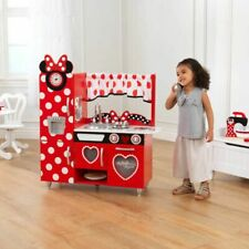 KidKraft Disney Minnie Mouse Wooden Vintage Play Kitchen Role Play Furniture Toy