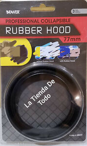 77MM ROUND CIRCULAR CAMERA CALLAPSIBLE RUBBER HOOD FITS HR77 READ