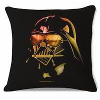 "Star Wars Darth Vader Black Cotton Linen Throw Pillow Case Cushion Cover 18x18"""