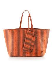 NWT BEIRN Orange Snake Skin-Embossed Grace Tote Bag w/ Wallet