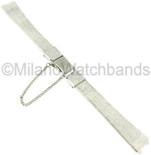 11mm Seiko Stainless Steel Center Clasp with Safety Chain Ladies Watch Band